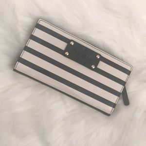 Kate Spade Wellessley Black Stripe Patent Wallet